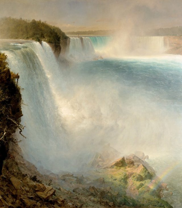 Frederic Edwin Church *Niagara Falls, from the American side* 1867, oil on canvas