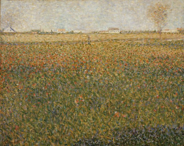 Georges Seurat *La luzerne, Saint-Denis* 1884–85, oil on canvas