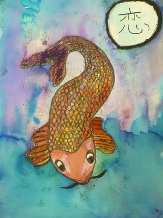 *Koi in water* Morgan Devey, Year 11 Wellington Point State High School, QLD