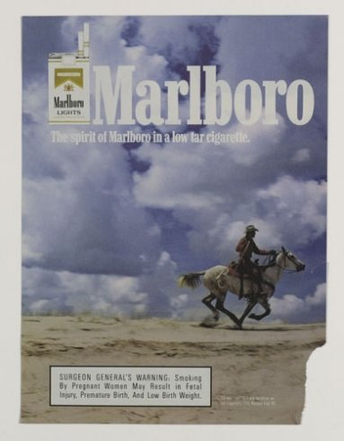 Tear Sheet, Original Marlboro Ad