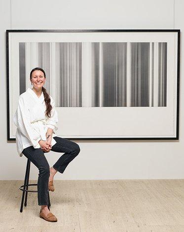 Ceara Metlikovec with her work *Maya 21 August 2018* 2018