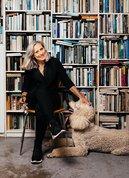 Julie Rrap with her standard poodle Cirrus. Photo: Jacquie Manning.