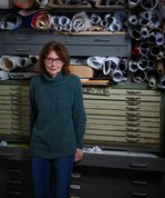 Helen Wright in her studio. Photo: Peter Whyte