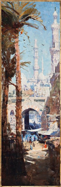 PRIVATE COLLECTION Arthur Streeton *Minarets, Cairo* 1897