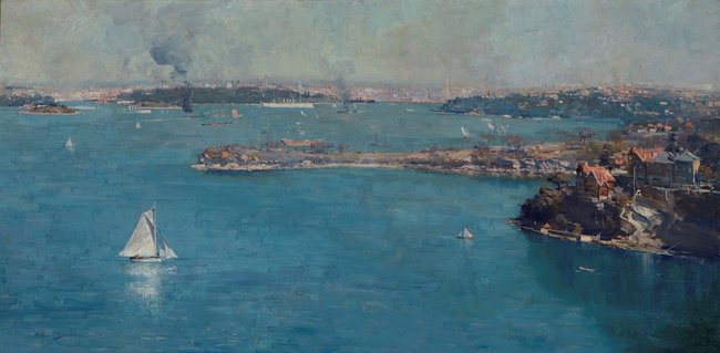 PRIVATE COLLECTION Arthur Streeton *Sydney Harbour* 1907