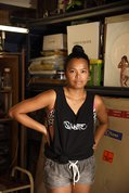Marikit Santiago in her Parramatta studio. Photo: Garry Trinh.