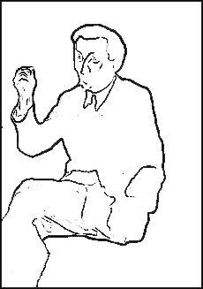 excerpt from Georg Grosz 'Portrait of Walter Mehring' 1926