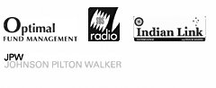 Optimal Fund Management, SBS Radio, Indian Link, Johnson Pilton Walker logos