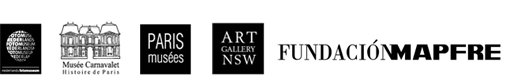 Logos of Fundación Mapfre, Nederlands Fotomuseum, Art Gallery of NSW, Musée Carnavalet-Histoire de Paris, Paris Musées