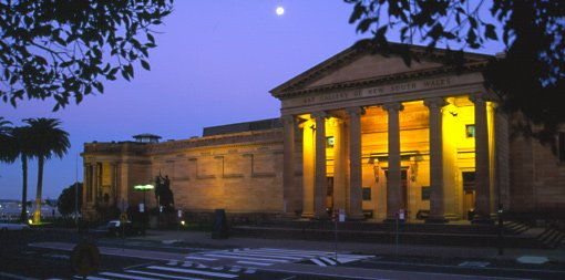 Exterior of Gallery at night