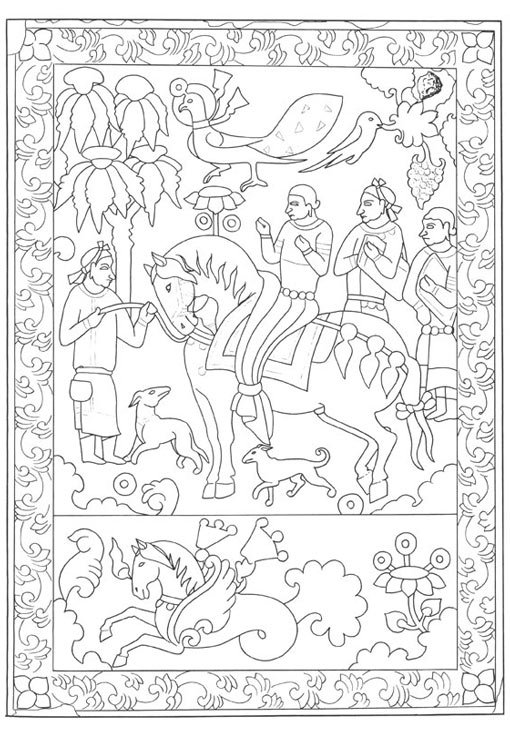 ancient silk road coloring pages - photo#12