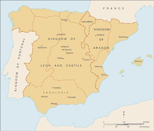 Regional Map Of Spain.Map And Timeline Renaissance To Goya Exhibition Kits