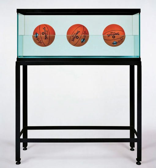Jeff Koons, Three ball 50/50 tank (Spalding Dr JK Silver series), 1985