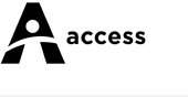 Accessing Sydney Collectively logo is an upper case letter A with a stylised human figure in the centre. A round head, arms outstretched, and body is wearing what looks like a dress. The figure is reaching out expansively with the word access next to the logo