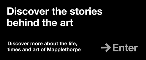 Discover the stories behind the art. Discover more about the life, times and art of Mapplethorpe. Enter.