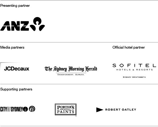 ANZ, JCDecaux, Sydney Morning Herald, Sofitel, City of Sydney, Porter's Original Paints, Robert Oatley