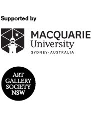 Supported by Macquarie University Sydney Australia and Art Gallery Society of NSW