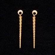 Unicorn Horn Drop Earrings : Gold Plate,  - $90.00