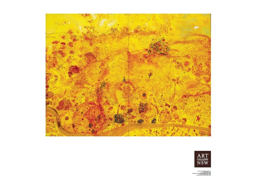 Golden summer clarendon john olsen poster print written by john olsen · art gallery of nsw