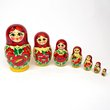 Russian Nesting Doll : Kirov Traditional Set of 7 : Red Scarf,  - $66.00