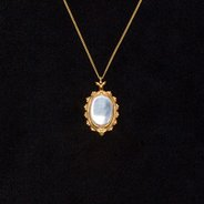 Mirror Pendant : Gold Plate & Sterling Silver,  - $95.00