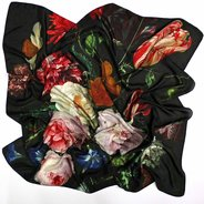 Still Life with Flowers Jan Davidsz de Heem Silk Scarf : Multicolour, Jan Davidsz de Heem - $125.00