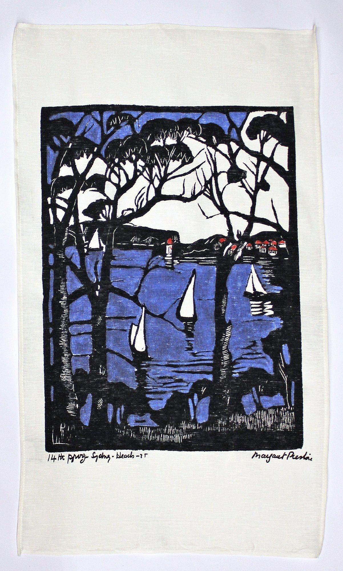 sydney heads margaret preston tea towel gallery shop art