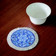 Coaster - Blue and White Water Waves,  - $19.50