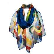 Delaunay Bleriot Chiffon Silk Scarf,  - $155.00