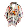 Kandinsky Weiches Hart Chiffon Silk Scarf,  - $155.00