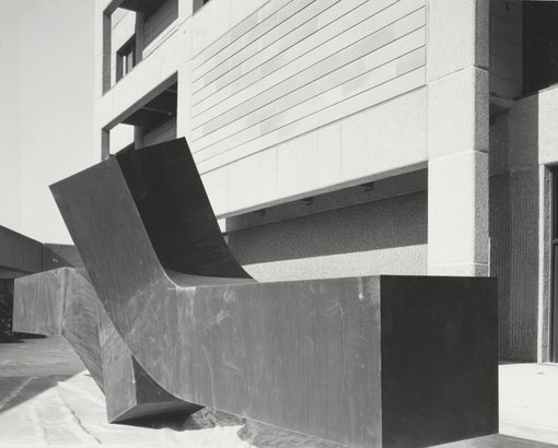 Clement Meadmore's Flippant flurry first installed in 1979 at the Gallery.