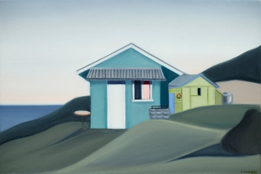 Winning work, on display  	Lucy O'Doherty (b1986, NSW)Shacks at Little Garie 2016oil on linen, 50 × 76 cmPrivate collection, Sydney