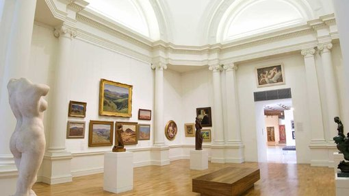 a view inside Lowy, Gonski Gallery
